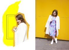 FASHION STORY #4: YELLOW MELLOW 🍍  bodycon dress, white coat, white sneakers  https://chernajakurica.com/2017/05/25/fashion-story-4-yellow-mellow-%F0%9F%8D%8D/