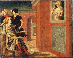 Liberale da Verona, (Italian, ca. 1445–1527/29). Scene from a Novella. The Metropolitan Museum of Art, New York. Gwynne Andrews Fund, 1986 (1986.147)