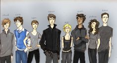 Divergent Character Lineup by Iabri71 colored by cheesebucket100.deviantart.com on @deviantART