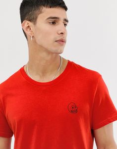 Cheap Monday Tiny Skull T-shirt-red Scandi Style, Cheap Monday, Jeans Fit, Asos, Crew Neck, Skull, Mens Fashion, Mens Tops, Red