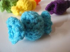Candy Cat toy (I don't crochet, but these would be super simple to create a pattern and sew!)