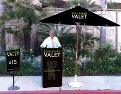 CUSTOM SIGNAGE | valet sign series for Hollywood & Highland Center