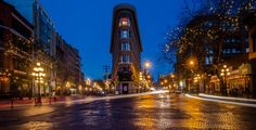 gastown at night - I am going on a series of explations around the city of Vancouver. This is one of the poorest niehbourhoods just past gastown into the downtown east side at night. East Side, Night Photography, Empire State Building, Vancouver, Past, To Go, Urban, Architecture, City