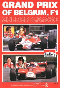 Belgio 1980 • STATS F1 F1 Racing, Racing Team, F1 Lotus, Funny Slogans, Vintage Racing, Vintage Auto, How To Look Pretty, Vintage Posters, Race Cars