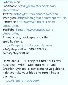 We'd love to follow you back on Instagram, Twitter... Easy to find links: #STEPCRAFT #CNC #3D: https://m.facebook.com/stepcraftinc/posts/1653549574937457:0