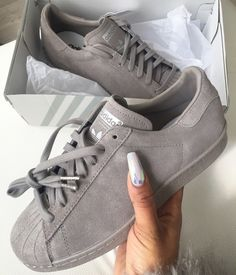 With the new Adidas running shoes; this is the new boost by Adidas running shoes. Cute Shoes, Me Too Shoes, Women's Shoes, Shoe Boots, Shoes Style, Shoes Sneakers, Gray Shoes, Grey Sneakers, Sneakers Sale