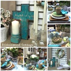 Cottage Style Spring Tablescape