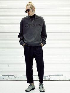 Bradley Soileau in Calvin Klein Obsession Sweatshirt  #menswear