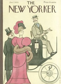 The New Yorker - Saturday, January 7, 1933 - Issue # 412 - Vol. 8 - N° 47 - Cover by : Rea Irvin
