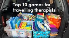 My Top 10 games to use a travelling therapist. As I work with a wide range of children I need lots of different games each day to keep therapy fun! Aba Therapy Activities, Speech Therapy Activities, Speech Language Therapy, Speech And Language, Speech Pathology, Aba Therapy For Autism, Counseling Activities, Travel Activities, Speech Therapy Organization