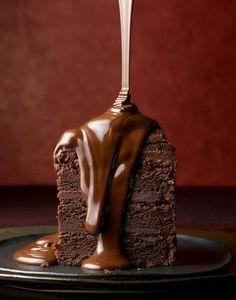 colata di cioccolato fondente