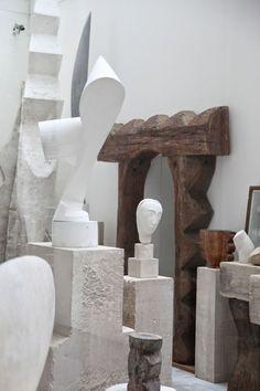 "scandinaviancollectors: ""CONSTANTIN BRANCUSI, Atelier Brâncuși (reconstruction after original studio from 1920s), Place George Pompidou, Paris. / Habitually Chic """