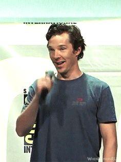 [GIF] Benedict Cumberbatch. DOCTOR STRANGE panel. San Diego Comic Con. July 23, 2016.