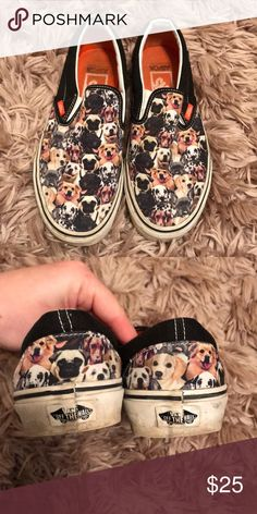 ASPCA Dog Vans Previously loved💝💝💝💝 ASPCA Canine vans SLIP ONS Women's size 8 Men's size 6.5 Vans Shoes Sneakers