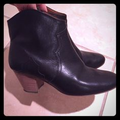 Isabel Marant Dicker boots 37 In barely worn condition. The leather is still stiff!!! True to size 37. I have the original box (small rip on box) and dust bags. Price is firm!! Isabel Marant Shoes Ankle Boots & Booties