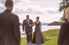 The bride wore a black wedding dress at Ashford Castle lawn ceremony Ashford Castle, Irish Wedding, Black Wedding Dresses, Wedding Ceremonies, Vows, Bride, Celebrities, How To Wear, Photography