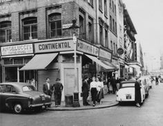 The corner of Frith Street, Soho, London, circa Get premium, high resolution news photos at Getty Images London Pictures, London Photos, Old Pictures, Old Photos, Uk History, London History, English Architecture, Historical Architecture, Vintage London
