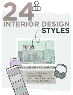 Interior Design Styles Characteristics and Illustration BOOK