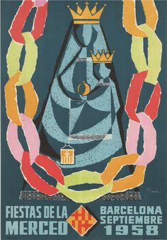 #Cartells #Franquisme #Festes_de_la_Mercè  #Barcelona Barcelona, Las Mercedes, Balearic Islands, Illustration, Movies, Movie Posters, Vintage, Wall, Celebration