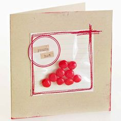 DIY Valentine's envelope inspiration unusual Valentine's Day cards