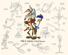 wild e coyote | How To Draw Looney Tunes ( The Looney Tuney Warneroonie Poke-Sonicy ...