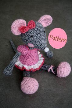 """""""PATTERN  BallerinaMouse crochet amigurumi toy by lilleliis on Etsy, $6.50"""" #Amigurumi  #crochet"""