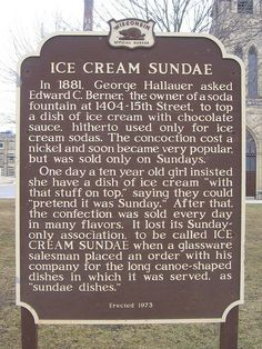 Home of the ice cream sundae by Andrew T..., via Flickr