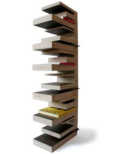 for books - Perlei - Dutch design Shelf Design, Storage Design, Design Art, Library Bookshelves, Unique Bookshelves, Bookcases, Modern Furniture, Furniture Design, Luxury Furniture