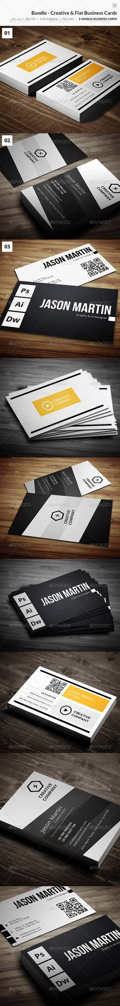 Bundle - Creative & Flat Business Cards - 24