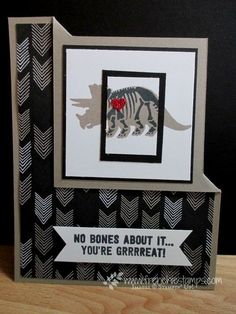 Frenchie's team in the Spotlight showcase new product (Stamp & Scrap with… Boy Cards, Kids Cards, Cute Cards, Card Making Inspiration, Making Ideas, Dinosaur Cards, Birthday Cards For Men, Happy Birthday, Animal Cards