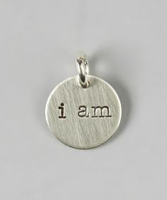 Take a look at this Sterling Silver 'I Am' Charm by FIVE on #zulily today!