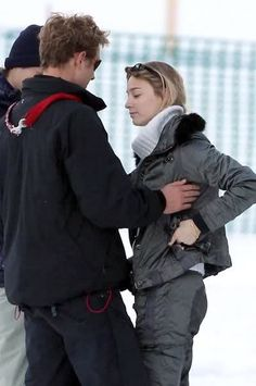 Pierre Casiraghi- Beatrice Borromeo - Saint Moritz - February 2015
