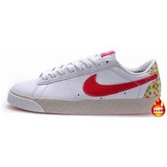Womens Nike Blazer Low White Red Leather