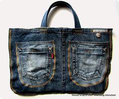 Le IT-Bag di TUC sono di Jeans riciclato e tutti pezzi unici