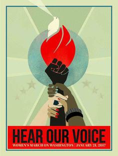"WOMEN'S MARCH – Liza Donovan, ""Hear Our Voice"""