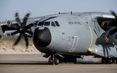 Download wallpapers Military transport aircraft, Airbus A400M, cargo aircraft, Airbus Military