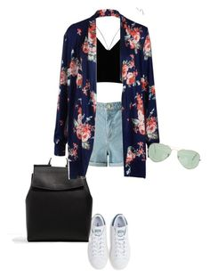 """Untitled #77"" by kimtahyung on Polyvore featuring River Island, Miss Selfridge, adidas, CHARLES & KEITH and Ray-Ban"
