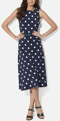 belted polka dot midi dress http://rstyle.me/n/nphfrr9te