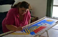 I had an opportunity this past weekend to take a class in a different style of silk painting than my usual wet-in-wet salt sprinkled fare. S...