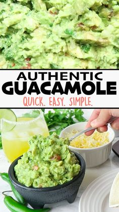 This Authentic Guacamole recipe is easy, quick, and made with just a few simple ingredients! You can make it as chunky or creamy as you like. 😋 Use it as a dip, side, or topping! Click 🔗for the full detailed recipe! Chunky Guacamole Recipe, Authentic Guacamole Recipe, Best Guacamole Recipe, Avocado Recipes, Avocado Guacamole, Ingredients For Guacamole, Guacamole Recipe With Mayonnaise, On The Border Guacamole Recipe, Homemade Guacamole Easy