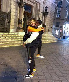 Cute Black Couples, Black Couples Goals, Cute Couples Goals, Freaky Relationship Goals, Couple Goals Relationships, Matching Couple Outfits, Matching Couples, Cute Boyfriend Pictures, Black Men Street Fashion