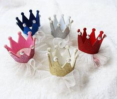 Couture Clips Red Crown Hair Clip