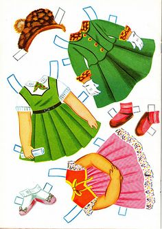 Sally the City Girl Doll Book, 1963 Lowe #1854 (5 of 8) |   bonecas de papel, paper doll, muñecas de papel