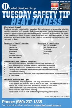 This week's Tuesday Safety Tip is about the Heat Illness Prevention. Safety Games, Safety Talk, Safety Meeting, Safety Topics, Health And Safety Poster, Safety Posters, Office Safety, Workplace Safety, Safety Moment Ideas