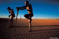 Bosquimanos del Kalahari, Namibia.