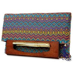 Duro Olowu for jcp Wood-Handled Tapestry Flat Tote - jcpenney