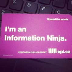 Biblio Pub Library card from Edmonton Public Library Library Cards, Library Programs, I Love Books, Books To Read, Librarian Humor, Library Research, Reference Desk, Middle School Libraries, Information Literacy