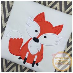 Fox Applique by www.everydaydesignsboutique.com. Free design for Gold Members of The Appliqué Circle  for the month of October 2016 at www.theaplliquecircle.com.