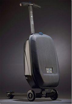 Black modern futuristic luggage.