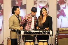 Gaby Espino Photos - Pedro Fernandez, Nicky Jam and Gaby Espino  attends 2016 Billboard Latin Music Awards press conferece  at Gibson Guitar Miami Showroom on February 3, 2016 in Miami, Florida. - 2016 Billboard Latin Music Awards - Press Conference